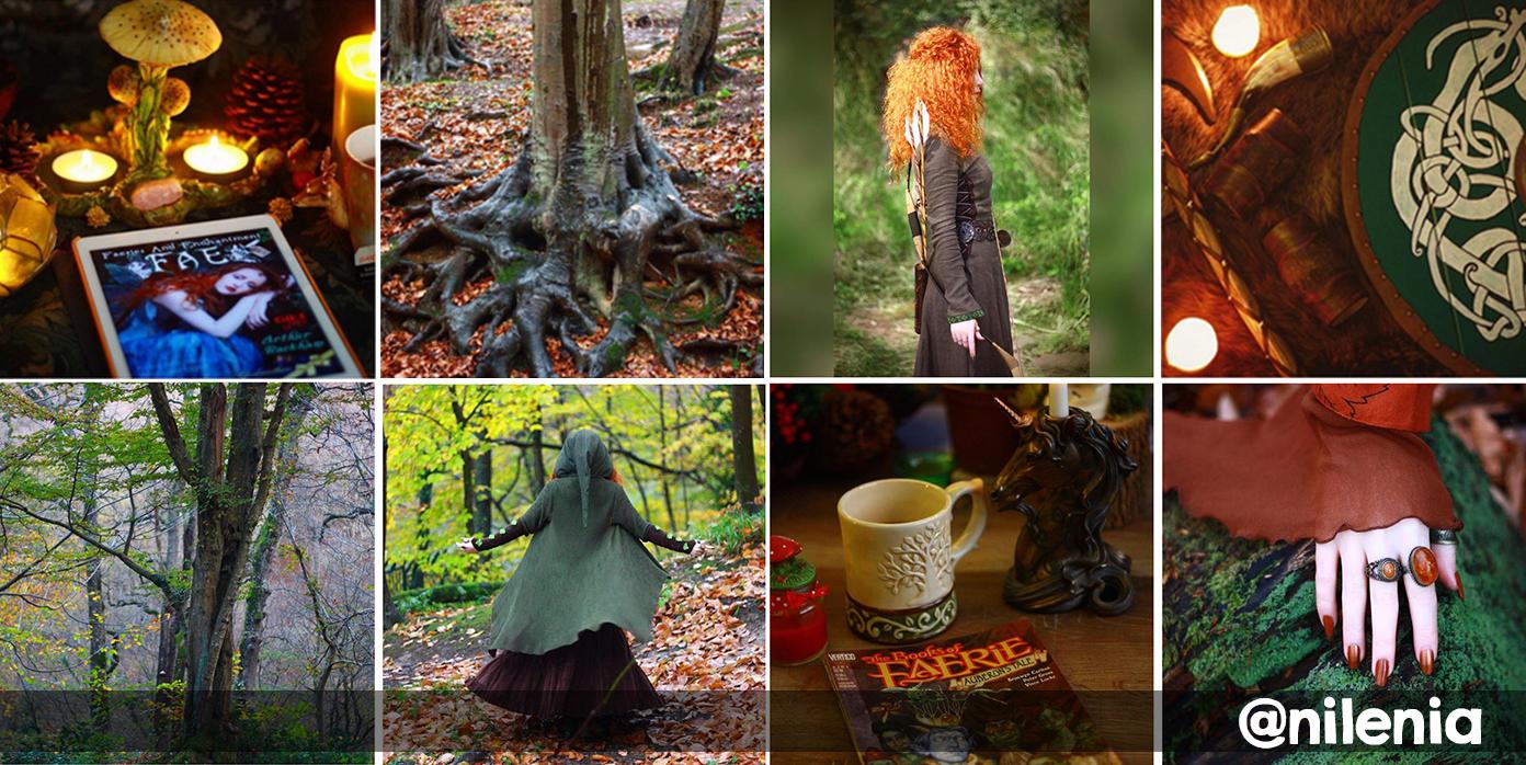 Instagram @nilenia, uma fada irlandesa mágica