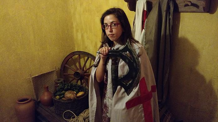 Cenário medieval para fotos na Taverna Milord em Campinas