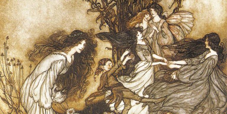 As fadas da cultura celta da Irlanda são tão reais quanto os mortais e têm suas casas, costumes, governos, estradas, animais de estimação, mudanças de humor e até preferências por cor de roupa.