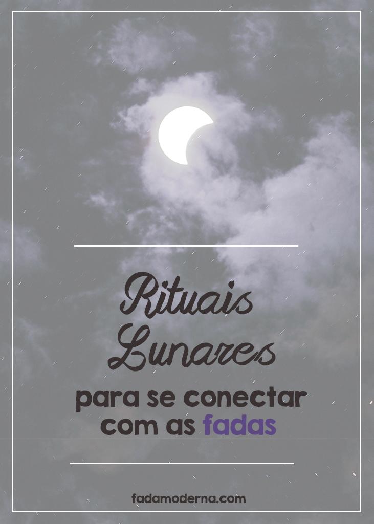 Rituais lunares celtas para se conectar com as fadas na Bruxaria Feérica na lua crescente, cheia, minguante e nova